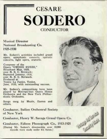 Cesare Sodero Conductor Trade (1931)