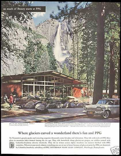 Yosemite National Park California PPG Glass (1958)