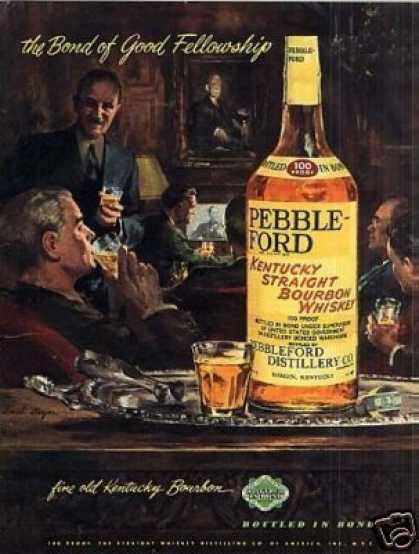 Pebbleford Bourbon Whiskey (1949)