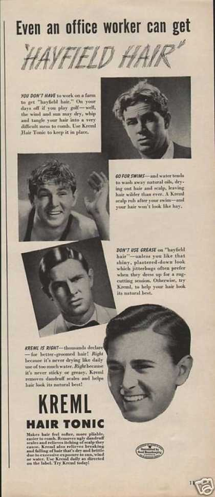 Kreml Hair Tonic for Men (1943)