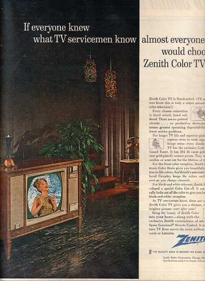 Zenith's Color TV's (1963)