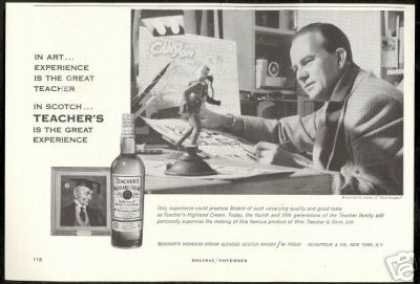 Steve Canyon Milton Caniff Teacher's Scotch (1959)