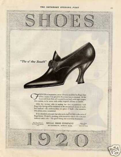 Regal Shoes Ad 2 Page (1920)