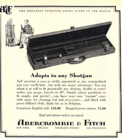 Abercrombie & Fitch Shotgun Case Leather (1962)