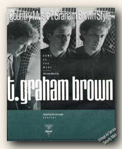 T. Graham Brown Photos Album Promo Ad Music (1988)