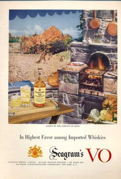 Seagram's Whisky Outdoor Bar B Que (1952)