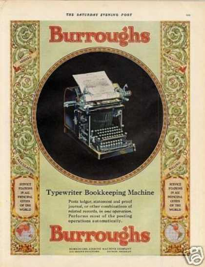 Burroughs Bookkeeping Machine Color (1930)