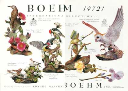 Boehm Bone & Hard Porcelain Birds (1972)