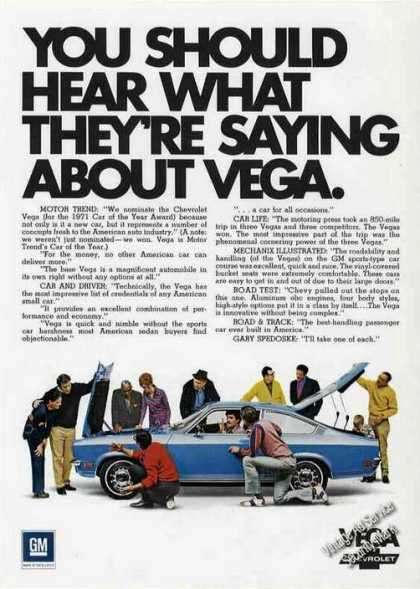 You Should Hear What They're Saying About Vega (1978)