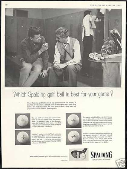 Spalding 4 Golf Ball Photo Locker Room (1956)