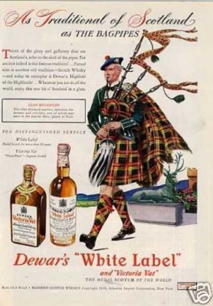 Dewar's Scotch Whisky Ad Clan Buchanan (1946)
