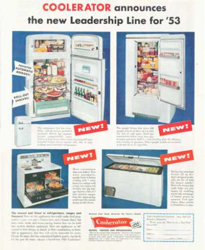 Coolerator Refrigerator Freezer Range (1952)