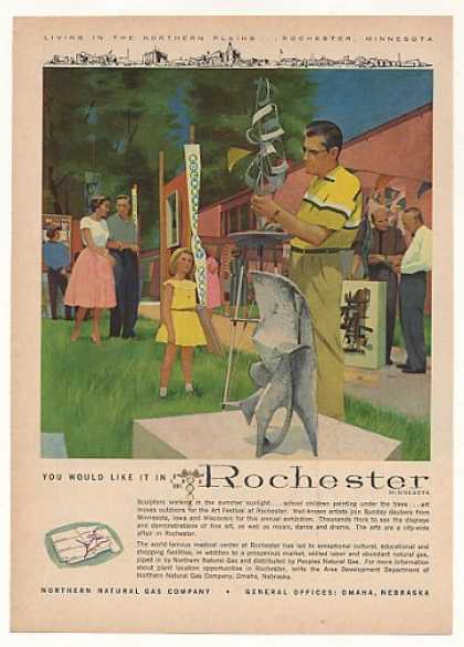 Rochester MN Art Festival Northern Natural Gas (1961)