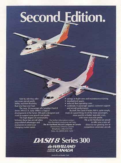 De Havilland Dash 8 Series 300 Aircraft Photo (1986)