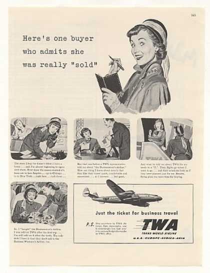 Lady Business Buyer Flies TWA Airlines (1948)
