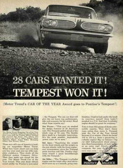 "Pontiac Tempest ""Motor Trend Car of the Year"" (1961)"