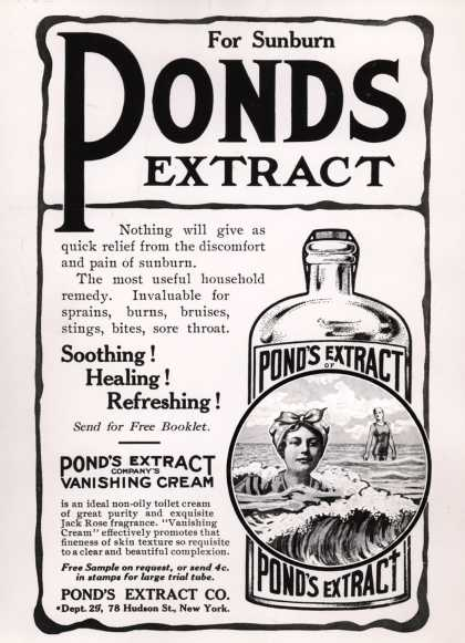 Pond's Extract Co.'s Pond's Extract – For Sunburn (1911)