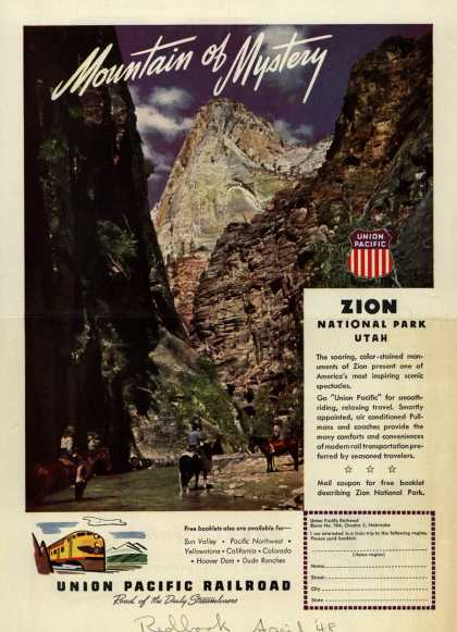 Union Pacific Railroad's Zion National Park – Mountain of Mystery (1948)