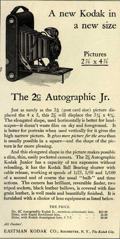 Kodak – A new Kodak in a new size (1916)