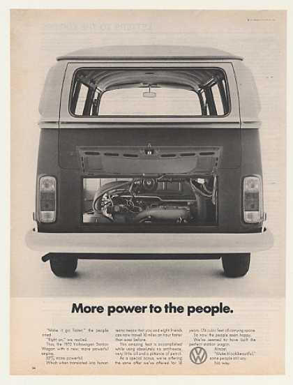 VW Volkswagen Station Wagon Engine More Power (1972)