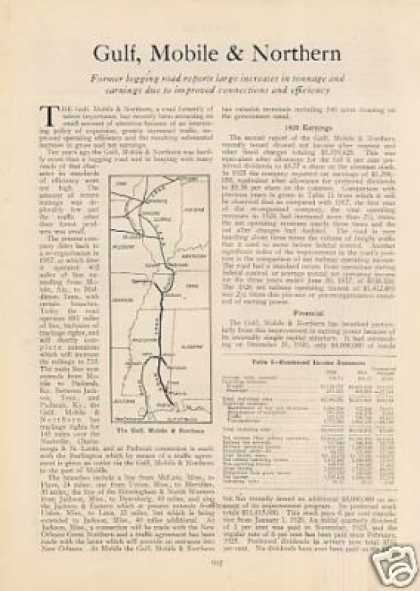 """Gulf, Mobile & Northern"" Article (1927)"