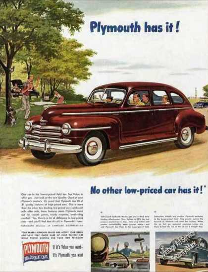 Plymouth Has It! Collectible Car (1947)