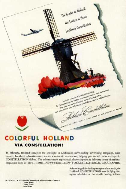 Lockheed Aircraft Corporation's Holland – Colorful Holland via Constellation