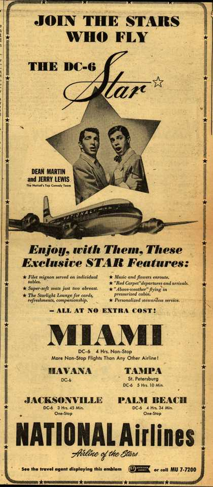 National Airline's Star – JOIN THE STARS WHO FLY THE DC-6 STAR (1951)