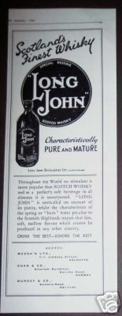 Long John Scotch Whisky (1936)