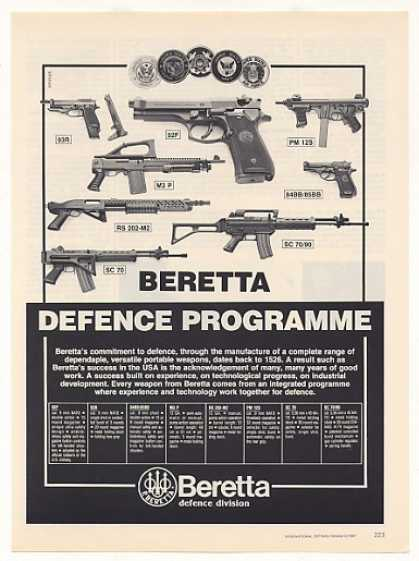 Beretta Defence Weapons Guns Pistols Rifles (1987)