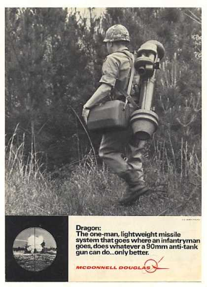 '71 McDonnell Douglas Dragon Missile US Army Soldier (1971)