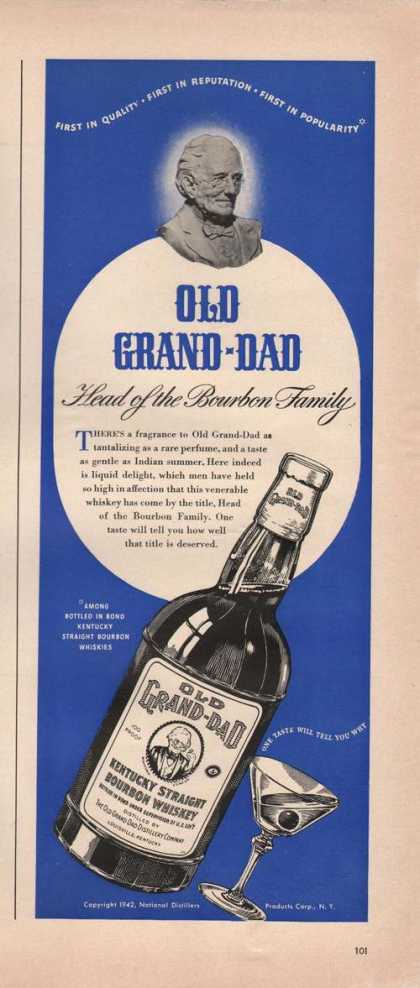 Old Grand Dad Bourbon Head of Family (1942)