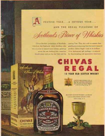 Chivas Regal Scotch Whiskey Ad- Scotland's Prince of Whiskies (1951)