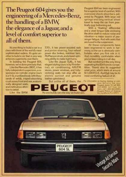 "Peugeot 604 ""Superior To All of Them"" Car (1977)"