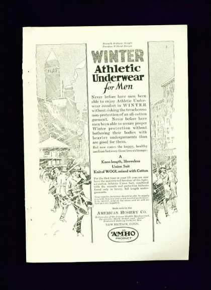 Winter Athletic Underwear American Hosiery Co. C (1915)
