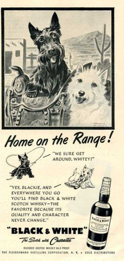Black & White Scottish Ad Southwestern Home Range (1952)