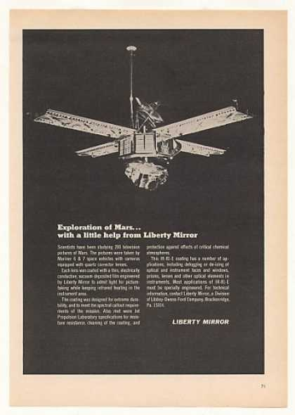 Mariner 6 Space Vehicle Liberty Mirror (1970)