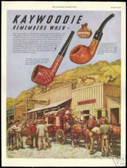 Kaywoodie Pipe Stagecoach Wells Fargo Co (1948)