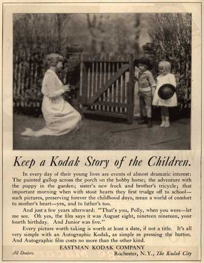 Kodak – Keep a Kodak Story of the Children (1919)