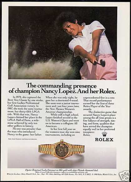 Nancy Lopez Golf Rolex Datejust Watch (1988)