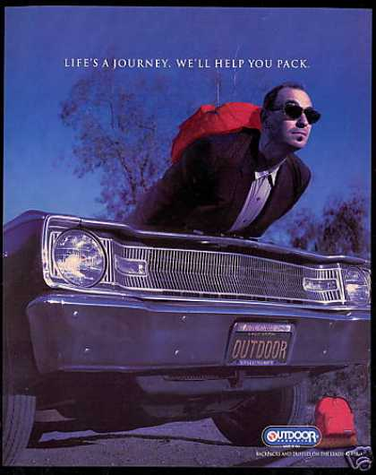 Outdoor Products Backpack Life's A Journey (1994)