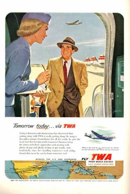 Twa Airlines Stewardess Plane (1952)