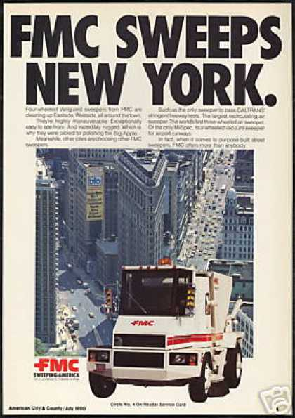 New York FMC Vanguard Street Sweeper Truck (1990)