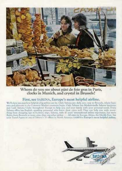 Sabena Airlines Pate De Foie Gras In Paris (1964)