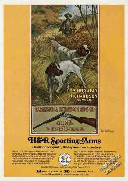 H&r Sporting Arms Collectible Guns (1975)