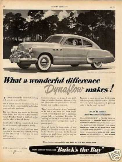 "Buick Super Car Ad ""What a Wonderful... (1949)"
