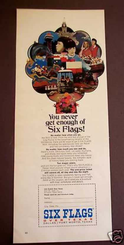 Six Flags In Texas Travel Vacation (1971)