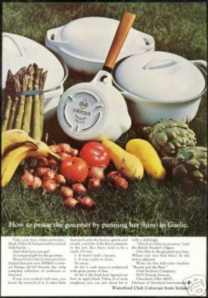 Waterford Club Colorcast Ireland Cookware (1968)