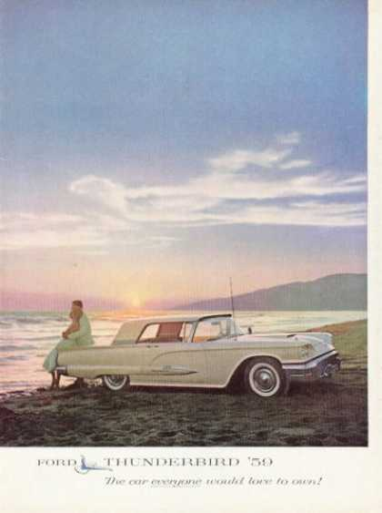 Ford Thunderbird at the Beach (1959)