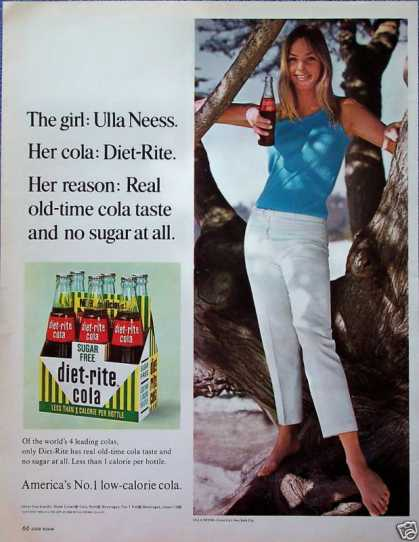 Diet Rite Cola Ulla Neess Cover Girl Model Tree (1966)